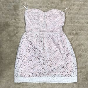 Pins and Needles strapless lace dress Size 6